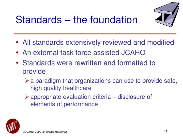 Standards – the foundation