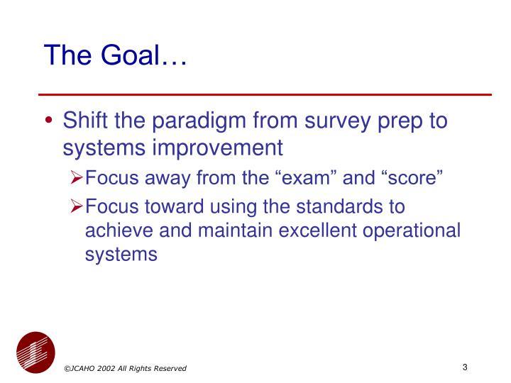 The Goal…