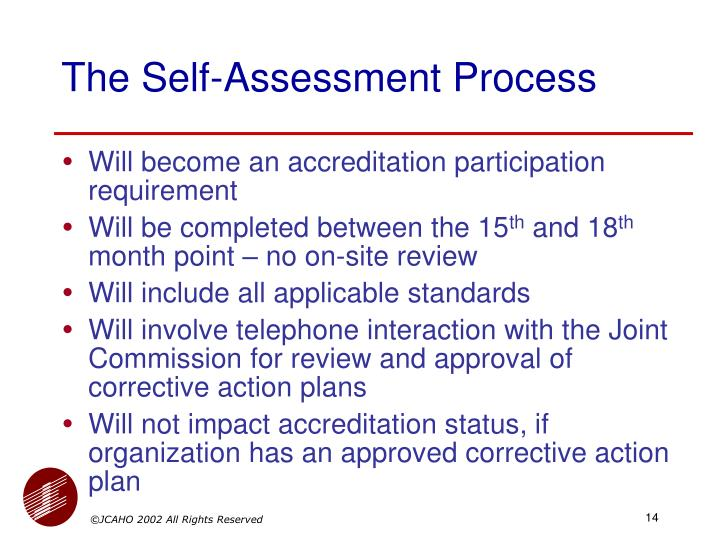 The Self-Assessment Process