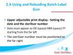 2 4 using and reloading batch label gun