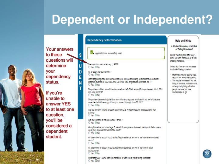 Dependent or Independent?