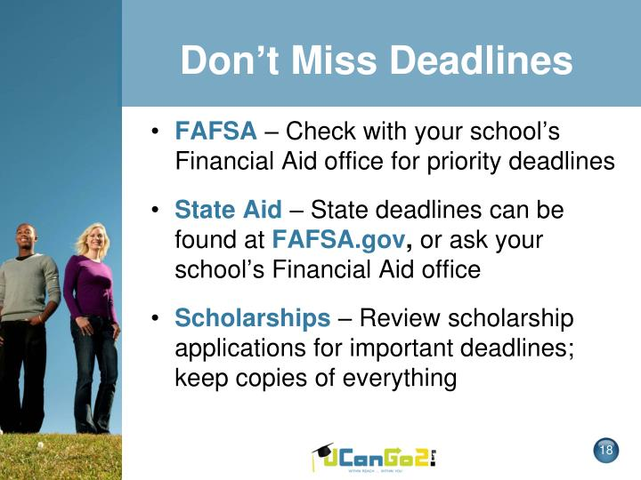 Don't Miss Deadlines