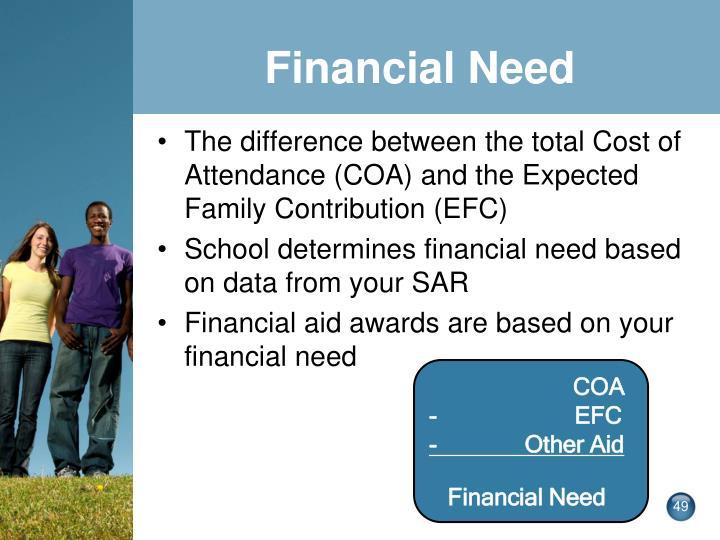 Financial Need