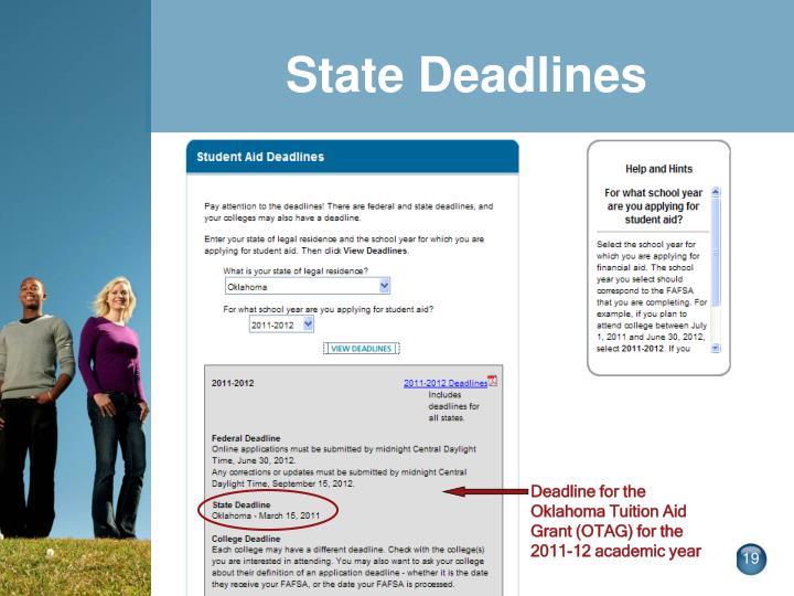 State Deadlines