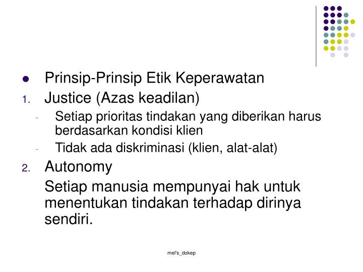 Prinsip-Prinsip Etik Keperawatan