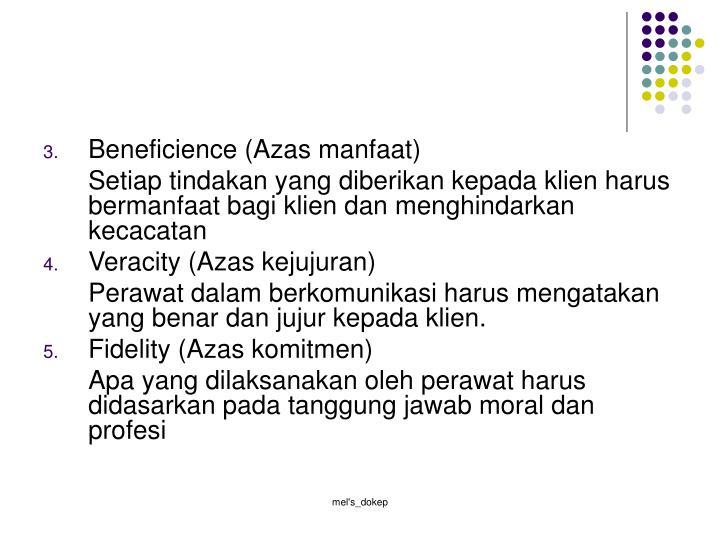 Beneficience (Azas manfaat)