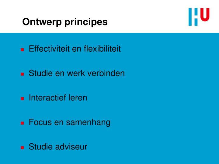 Ontwerp principes