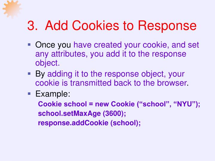 3.  Add Cookies to Response
