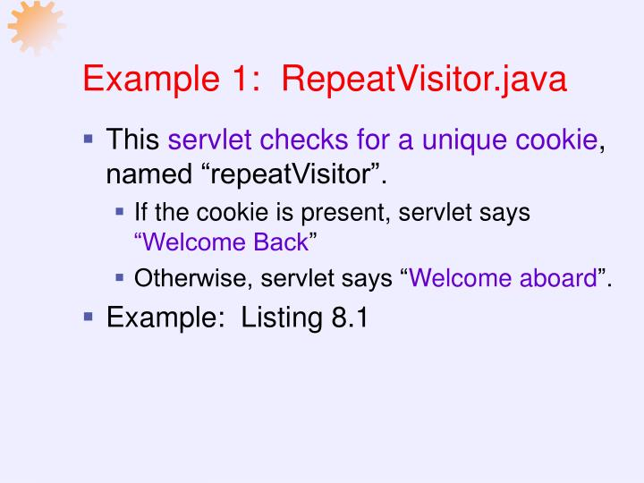 Example 1:  RepeatVisitor.java