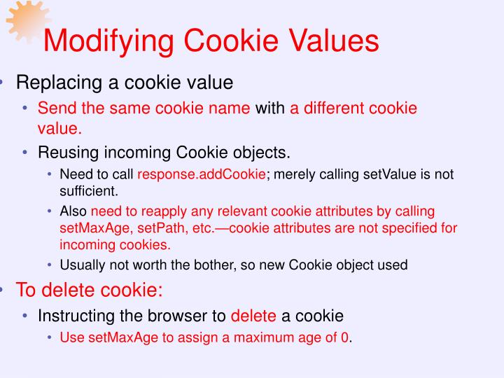 Modifying Cookie Values