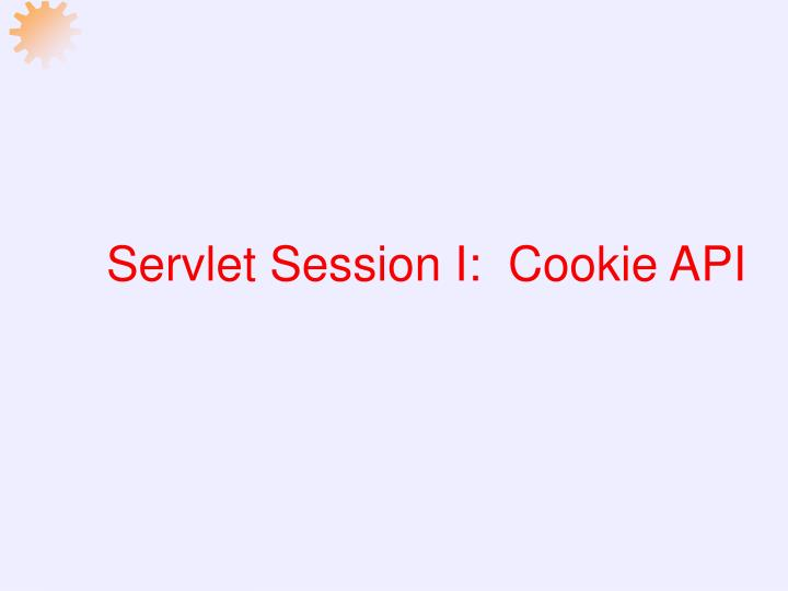 servlet session i cookie api