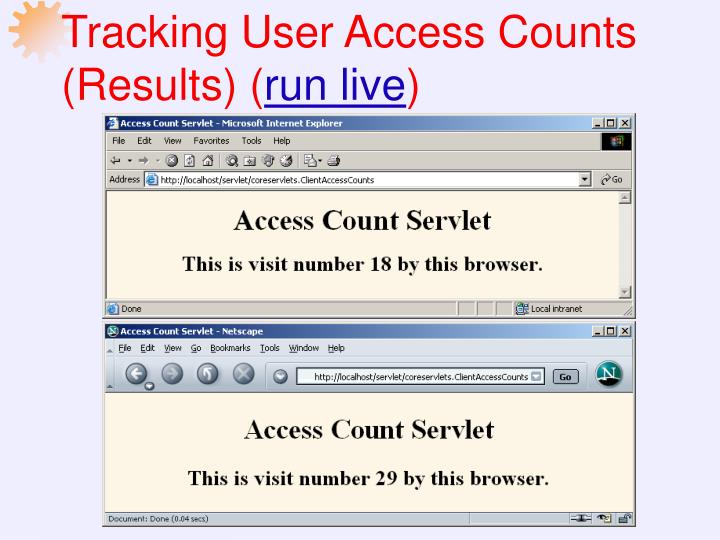 Tracking User Access Counts (Results) (
