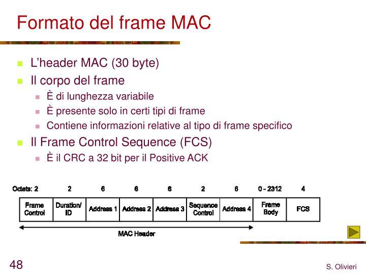 Formato del frame MAC