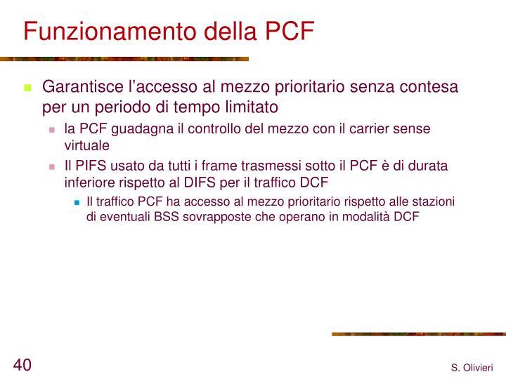 Funzionamento della PCF