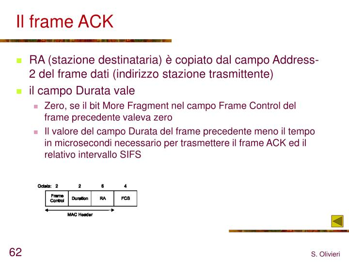 Il frame ACK