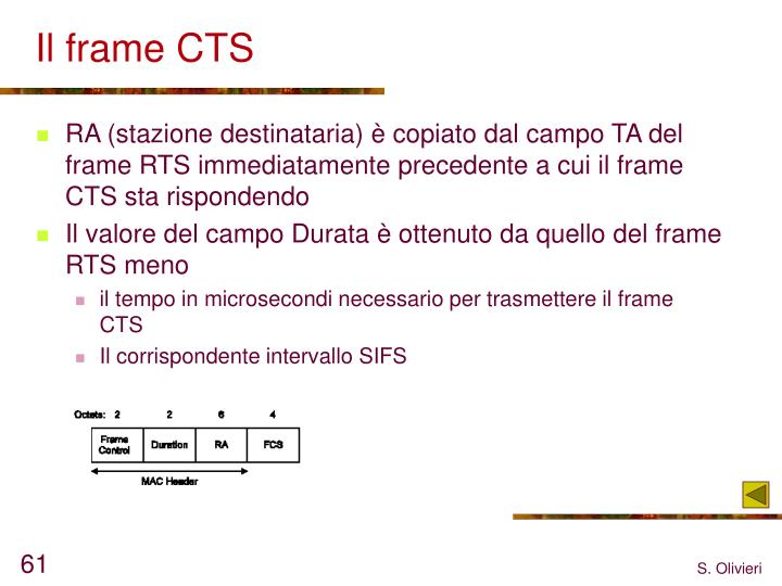 Il frame CTS