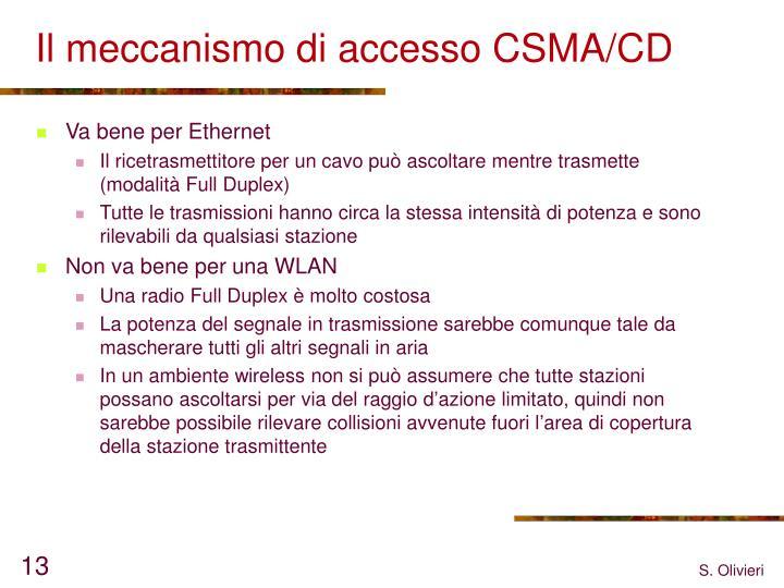 Il meccanismo di accesso CSMA/CD