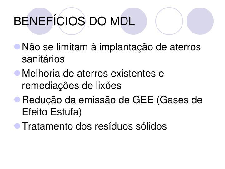 BENEFÍCIOS DO MDL