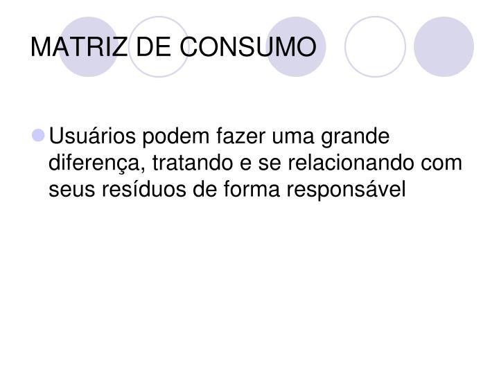 MATRIZ DE CONSUMO