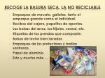 recoge la basura seca la no reciclable