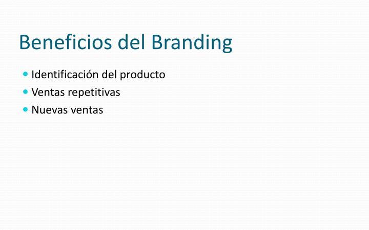 Beneficios del Branding