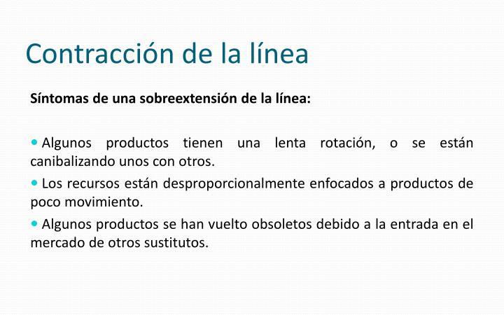 Contracción de la línea