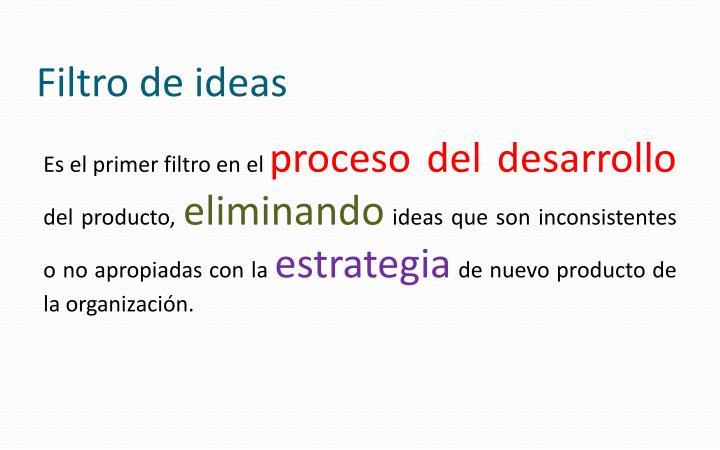 Filtro de ideas