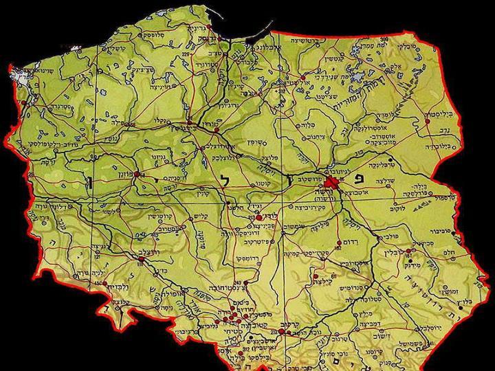 מפת פולין