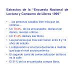 extractos de la encuesta nacional de lectura y consumo de libros 1999