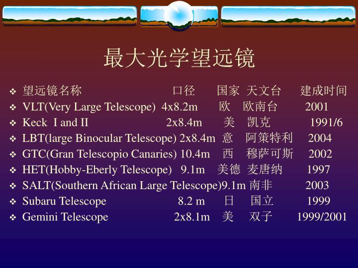 最大光学望远镜