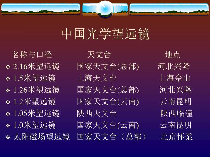 中国光学望远镜