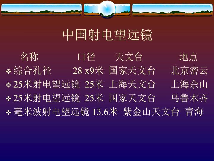 中国射电望远镜