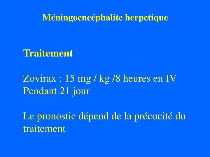 Méningoencéphalite herpetique