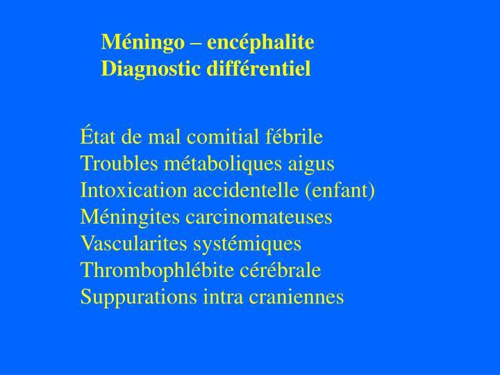 Méningo – encéphalite