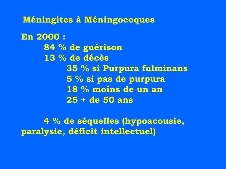 Méningites à Méningocoques