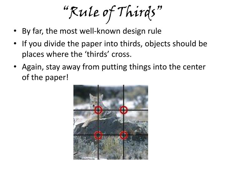 """Rule of Thirds"""