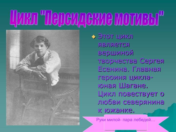 """Цикл """"Персидские мотивы"""""""