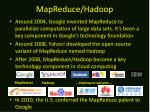 mapreduce hadoop