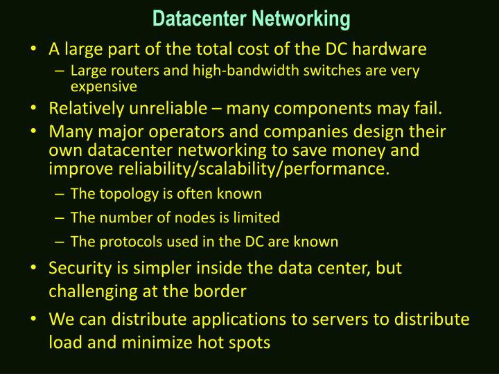 Datacenter Networking