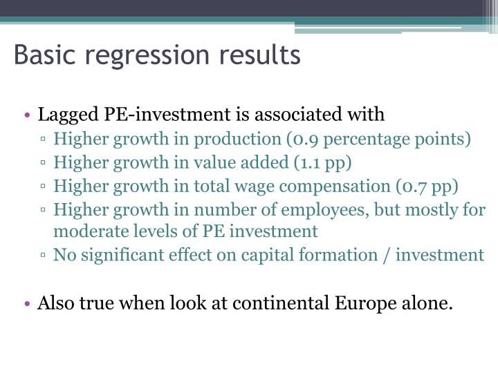 Basic regression results