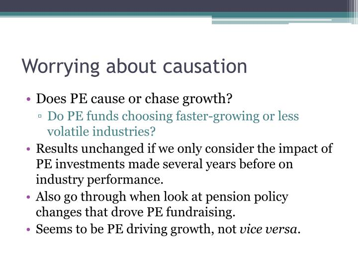 Worrying about causation