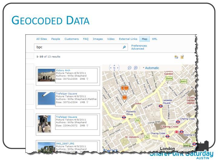 Geocoded Data