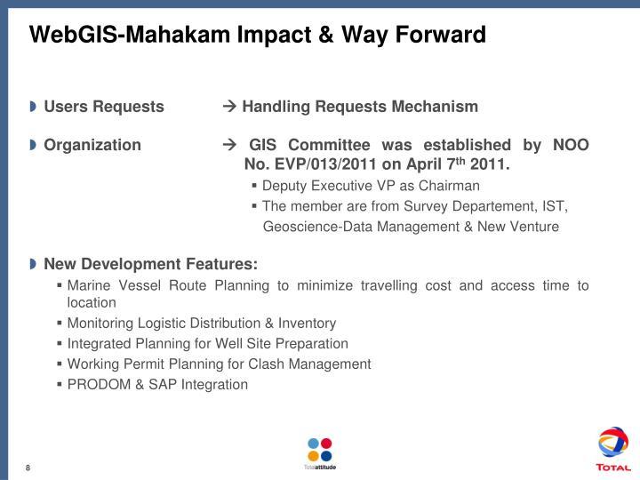 WebGIS-Mahakam Impact & Way Forward