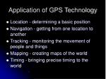 application of gps technology