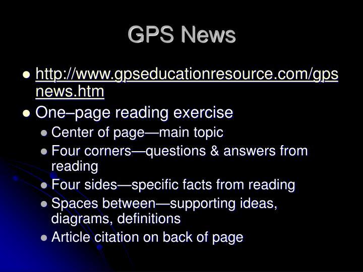GPS News