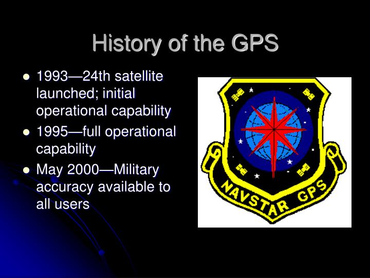 History of the GPS