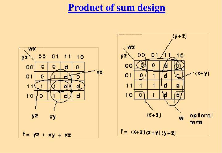Product of sum design