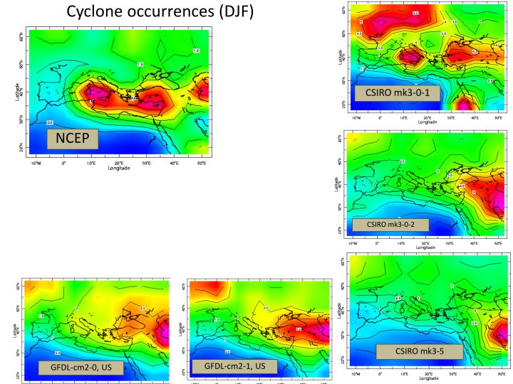 Cyclone occurrences (DJF)