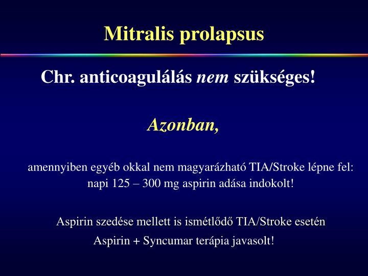 Mitralis prolapsus