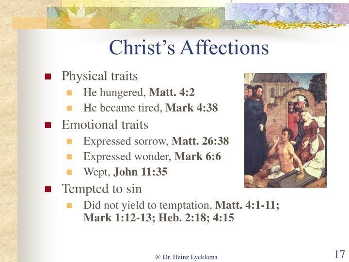 Christ's Affections